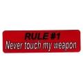 "Виниловый стикер на шлем/мотоцикл ""Правило №1..."""