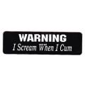 """Виниловый стикер на шлем/мотоцикл """"Warning - I scream..."""""""