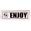 """Виниловый стикер на шлем/мотоцикл """"Enjoy"""""""