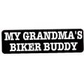 "Виниловый стикер на шлем/мотоцикл ""Байкер-кореш моей бабушки"""