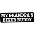 "Виниловый стикер на шлем/мотоцикл ""Байкер-кореш моего дедушки"""