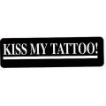 "Виниловый стикер на шлем/мотоцикл ""Kiss my tattoo"" (поцелуй мои татуировки)"