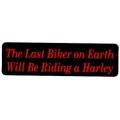 """Виниловый стикер на шлем/мотоцикл """"Последний байкер..."""""""