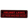 "Виниловый стикер на шлем/мотоцикл ""Закон..."""