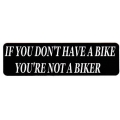 """Виниловый стикер на шлем/мотоцикл """"Ты не байкер..."""""""
