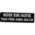 """Виниловый стикер на шлем/мотоцикл """"Никогда не езди быстрее..."""""""