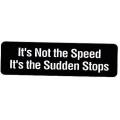 """Виниловый стикер на шлем/мотоцикл """"Виновата не скорость..."""""""