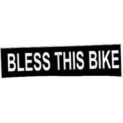 """Виниловый стикер на шлем/мотоцикл """"Благослови этот мотоцикл"""""""
