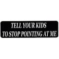"""Виниловый стикер на шлем/мотоцикл """"Попроси своих детей..."""""""
