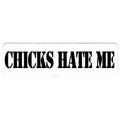 """Виниловый стикер на шлем/мотоцикл """"Девчонки ненавидят меня"""""""