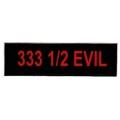 """Виниловый стикер на шлем/мотоцикл """"333 - дьявол наполовину"""""""