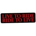 """Виниловый стикер на шлем/мотоцикл """"Живи, чтобы кататься, катайся, чтобы жить"""""""