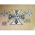 """Комплект из 5 стикеров """"West Coast Choppers"""""""