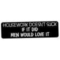 """Виниловый стикер на шлем/мотоцикл """"Работа по дому не отстой, если мужику это нравится"""""""