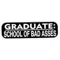 """Виниловый стикер на шлем/мотоцикл """"Выбирай-школа или плохие парни"""""""