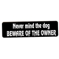 "Виниловый стикер на шлем/мотоцикл ""Бойся не собаку, бойся хозяина"""