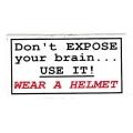 """Виниловый стикер на шлем/мотоцикл """"Берегите свой мозг - одевайте шлем"""""""