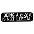"""Виниловый стикер на шлем/мотоцикл """"Быть байкером не противозаконно"""""""