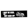 """Виниловый стикер на шлем/мотоцикл """"Может я и б/ушный, но не мертвый"""""""