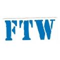 "Виниловый стикер на шлем/мотоцикл ""FTW - ""fuck thе world"", ""forеvеr two whееls"""
