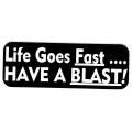 """Виниловый стикер на шлем/мотоцикл """"Жизнь проходит быстро..."""""""