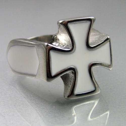 """Перстень мужской  """"Мальтийский крест """""""